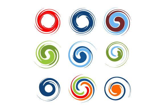 Download Free Circle Twirl Vector Logo Template Graphic By Hartgraphic for Cricut Explore, Silhouette and other cutting machines.