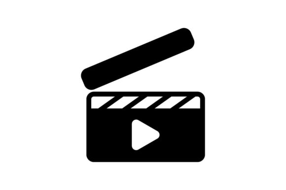Download Free Clapperboard Monochrome Icon Graphic By Hoeda80 Creative Fabrica for Cricut Explore, Silhouette and other cutting machines.