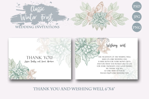 Download Free Classic Winter Wedding Invitations Graphic By Graphobia for Cricut Explore, Silhouette and other cutting machines.