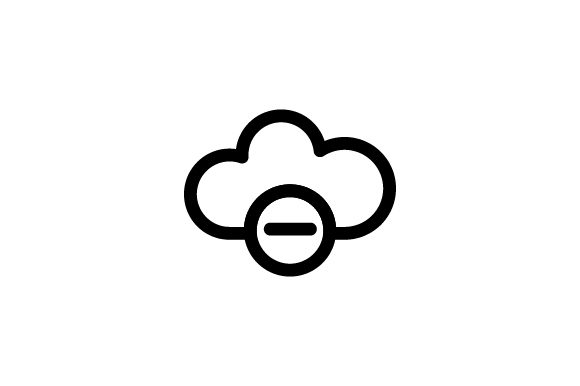 Download Free Cloud Icon Graphic By Rudezstudio Creative Fabrica for Cricut Explore, Silhouette and other cutting machines.
