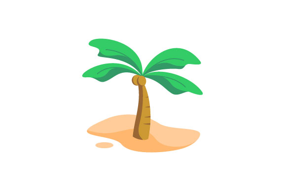 Download Free Coconut Tree Vector Illustration Graphic By Hartgraphic for Cricut Explore, Silhouette and other cutting machines.