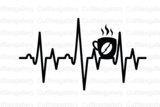 Download Free Coffee Heartbeat Graphic By Cutfilesgallery Creative Fabrica for Cricut Explore, Silhouette and other cutting machines.