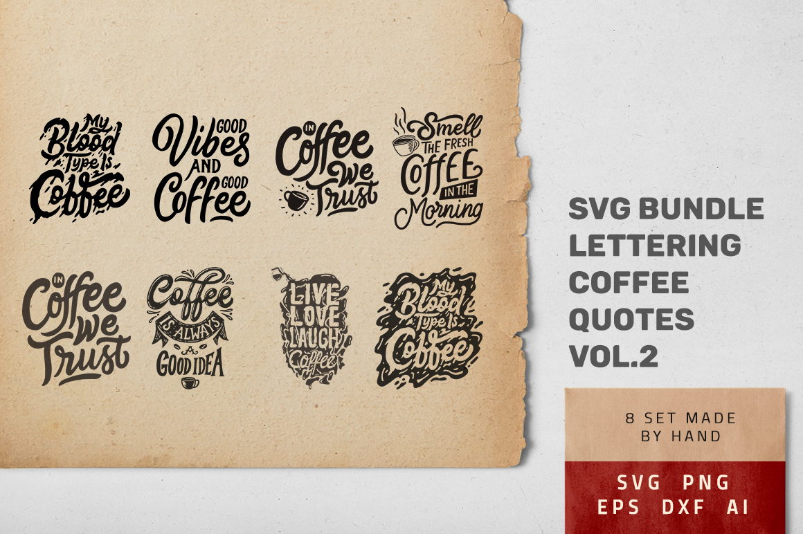 Download Free Coffee Quotes Bundle Graphic By Weape Design Creative Fabrica for Cricut Explore, Silhouette and other cutting machines.