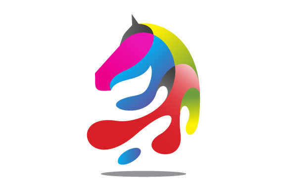 Download Free Colorful Horse Head Vector Illustration Graphic By Hartgraphic for Cricut Explore, Silhouette and other cutting machines.