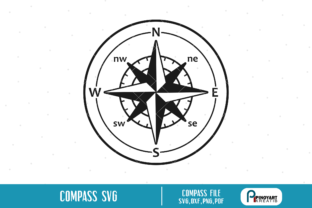 Download Free Compass Graphic By Pinoyartkreatib Creative Fabrica for Cricut Explore, Silhouette and other cutting machines.