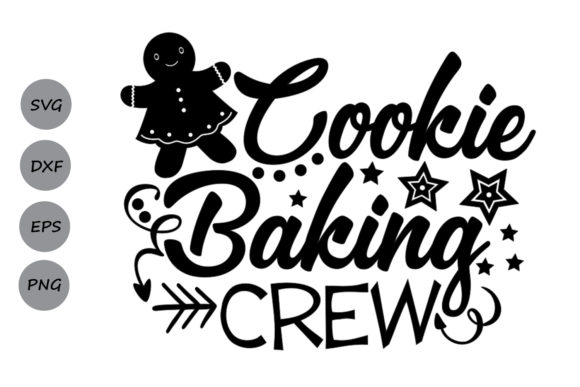 Download Free Cookie Baking Crew Svg Graphic By Cosmosfineart Creative Fabrica for Cricut Explore, Silhouette and other cutting machines.