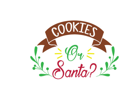 Download Free Cookies Or Santa Svg Cut Graphic By Thelucky Creative Fabrica for Cricut Explore, Silhouette and other cutting machines.