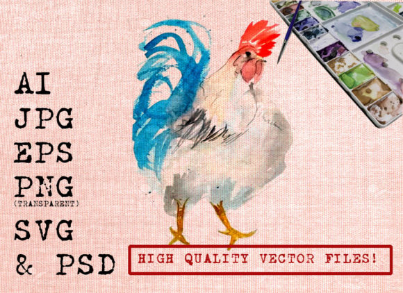Cool Rooster Graphic By Ambar Art