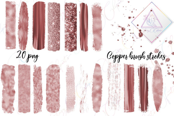 Copper Brush Strokes Clipart Graphic By fantasycliparts
