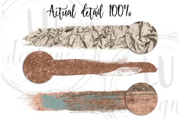 Download Free Copper And Green Glitter Watercolor Brush Strokes Graphic By Lu for Cricut Explore, Silhouette and other cutting machines.
