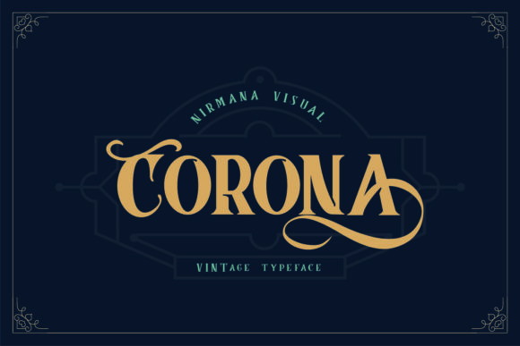 Print on Demand: Corona Display Font By Sigit Dwipa