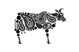 Cow Made out of Paisly Patterns Paisley Craft Cut File By Creative Fabrica Crafts 2