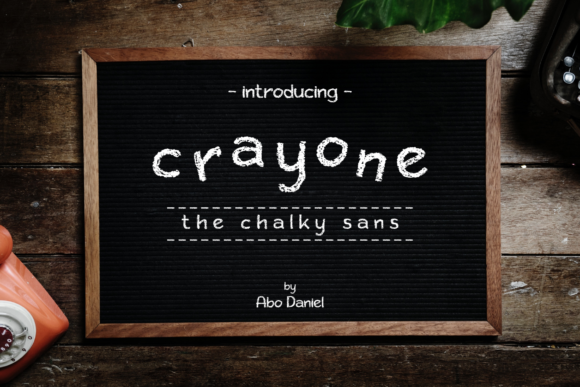 Print on Demand: Crayone Sans Serif Font By Abodaniel
