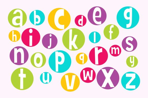 Crazy Bright Circle Alphabet Letters Graphic By Sonyadehart