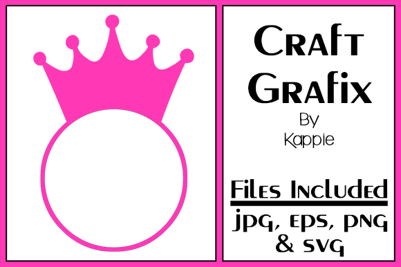 Crown Monogram Graphic By Grafix By Kappie Creative Fabrica