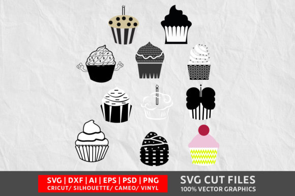 Download Free Cupcake Graphic By Design Palace Creative Fabrica for Cricut Explore, Silhouette and other cutting machines.