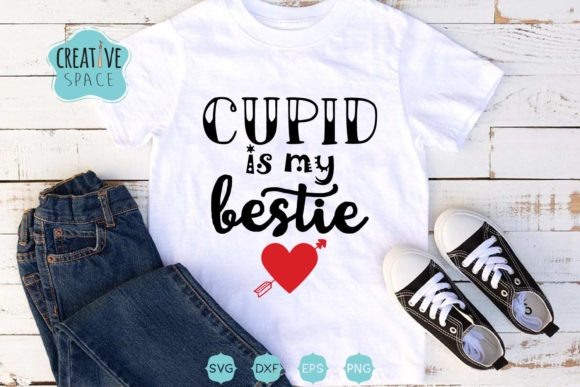 Cupid is My Bestie SVG Graphic Crafts By creativespace