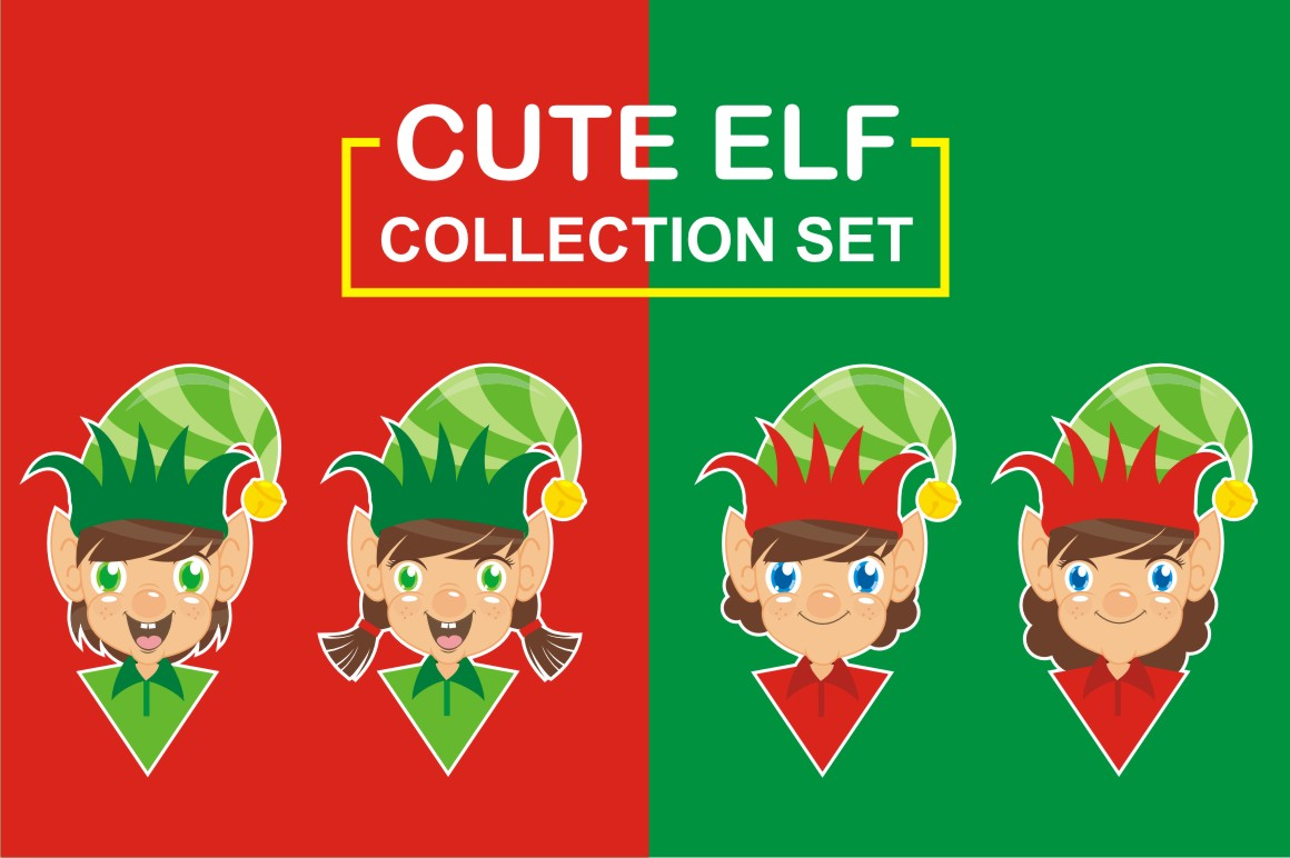 Download Free Cute Elf Collection Set Graphic By Azkaryzki Creative Fabrica for Cricut Explore, Silhouette and other cutting machines.