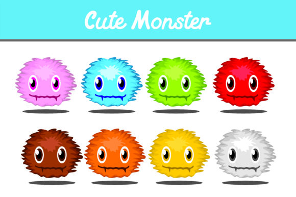 Print on Demand: Cute Monster Bundle Gráfico Iconos Por Arief Sapta Adjie