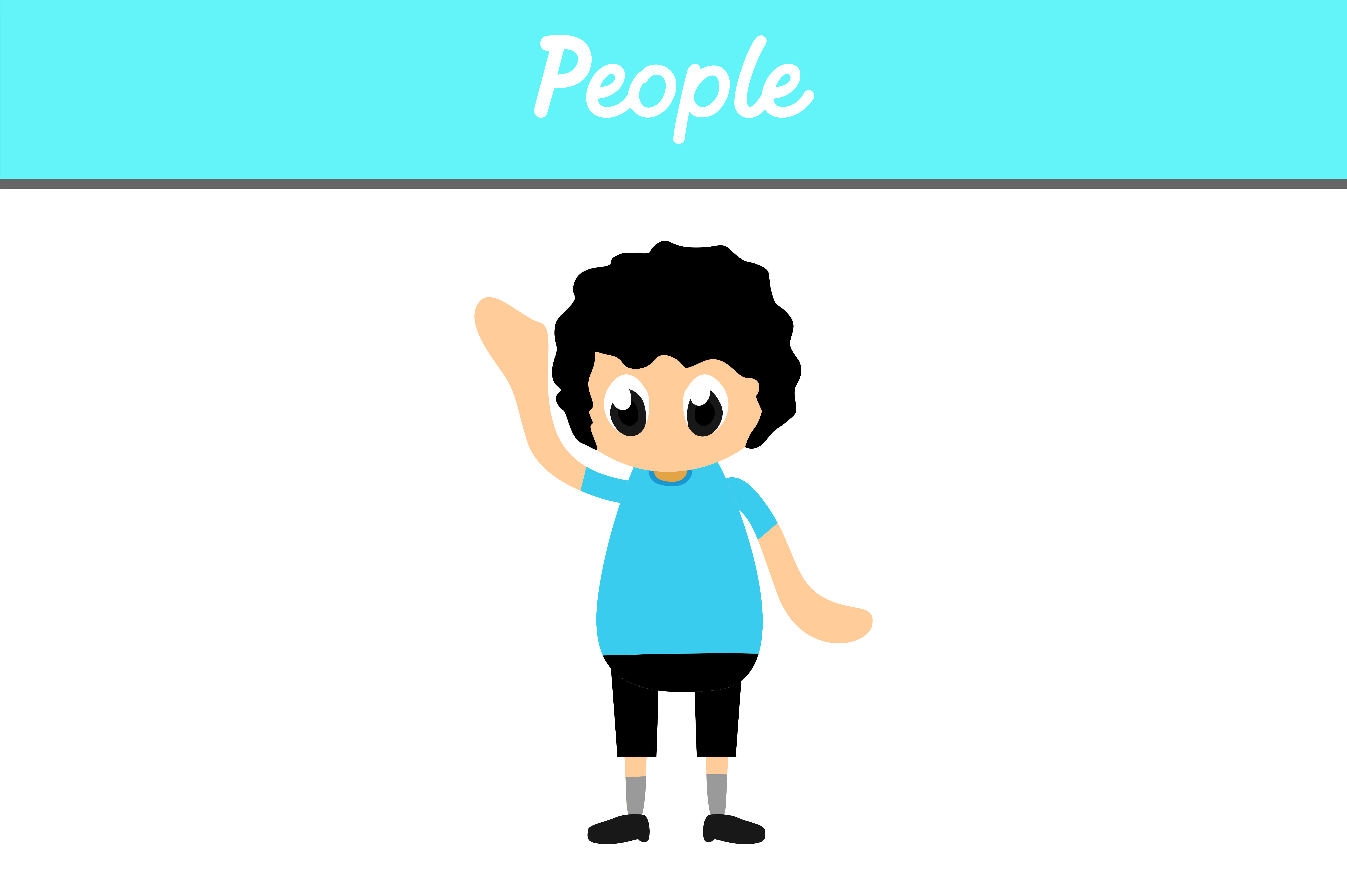 Download Free Cute People Vector Graphic By Arief Sapta Adjie Creative Fabrica for Cricut Explore, Silhouette and other cutting machines.