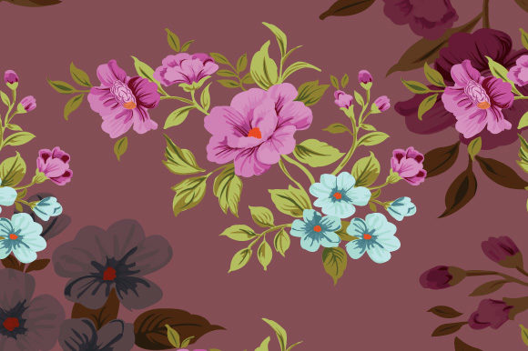 Print on Demand: Cute Seamless Floral Pattern Graphic Patterns By iop_micro