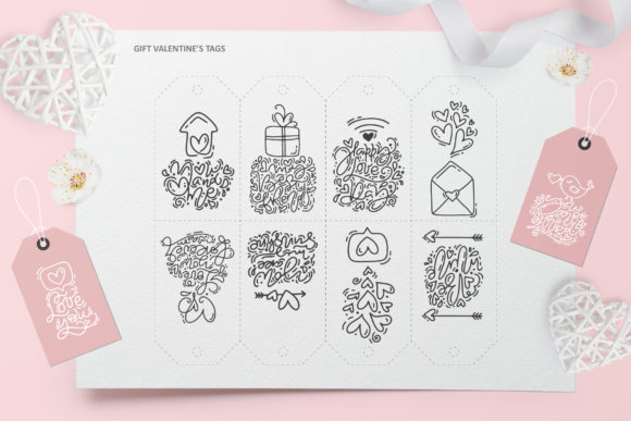 Cute Valentines Elements Graphic Illustrations By Happy Letters - Image 11
