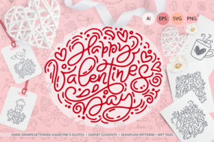 Cute Valentines Elements Graphic By Happy Letters