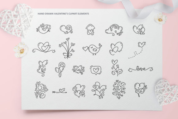 Cute Valentines Elements Graphic Illustrations By Happy Letters - Image 9