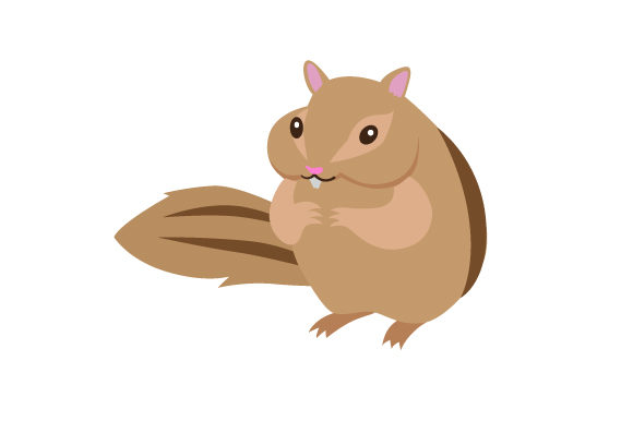 Download Free Cute Chipmunk With Big Cheeks Svg Cut File By Creative Fabrica for Cricut Explore, Silhouette and other cutting machines.