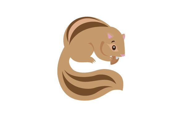 Download Free Cute Chipmunk With Big Cheeks Holding A Nut Svg Cut File By for Cricut Explore, Silhouette and other cutting machines.