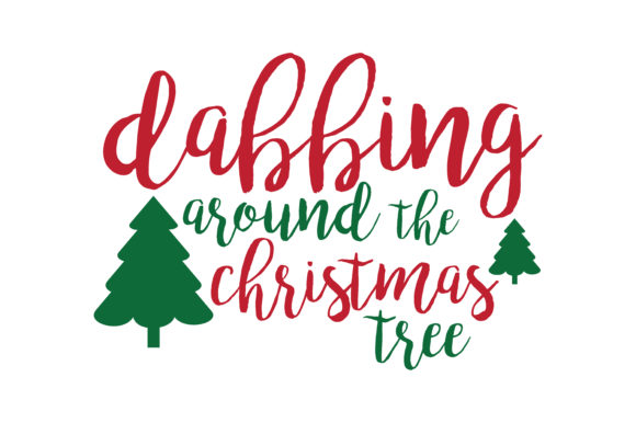 Download Free Dabbing Around The Christmas Tree Svg Cut Graphic By Thelucky for Cricut Explore, Silhouette and other cutting machines.