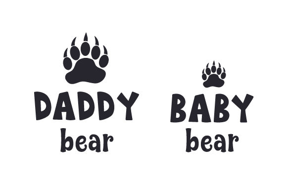 Download Free Daddy Bear Baby Bear Svg Cut File By Creative Fabrica Crafts for Cricut Explore, Silhouette and other cutting machines.