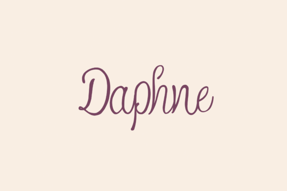 Print on Demand: Daphne Script & Handwritten Font By Agentur BM