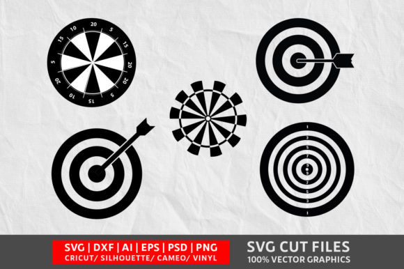 Download Free Dart Board Graphic By Design Palace Creative Fabrica for Cricut Explore, Silhouette and other cutting machines.