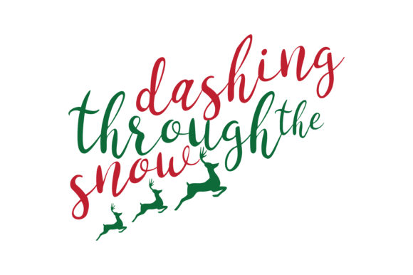 Download Free Dashing Through The Snow Svg Cut Graphic By Thelucky Creative for Cricut Explore, Silhouette and other cutting machines.