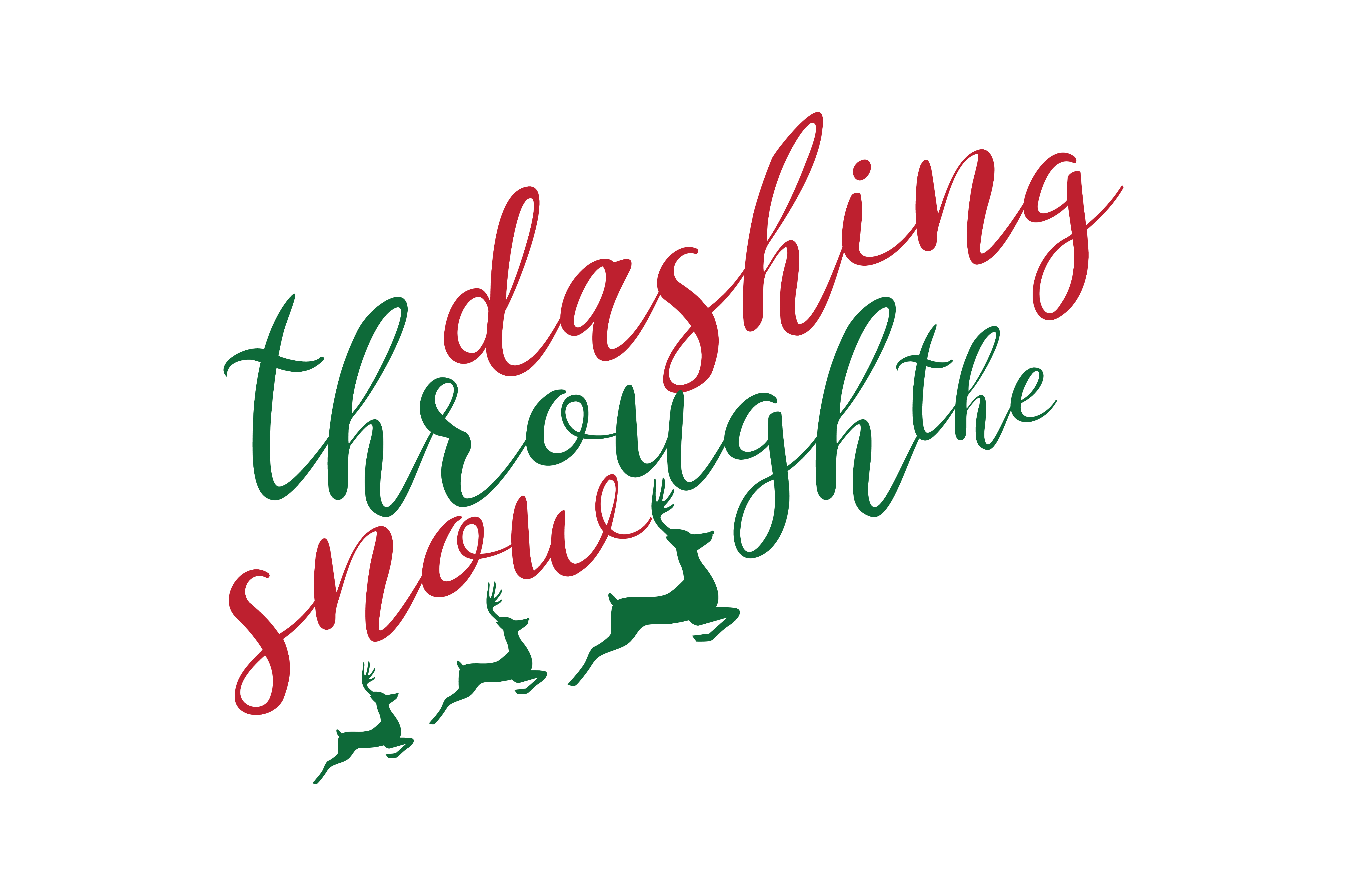 Dashing Through The Snow Graphic By Thelucky Creative Fabrica