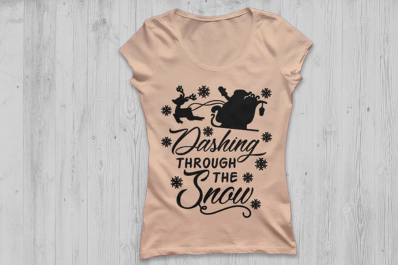 Download Free Dashing Through The Snow Svg Graphic By Cosmosfineart Creative for Cricut Explore, Silhouette and other cutting machines.
