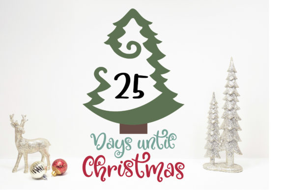 Days Until Christmas Countdown.Days Until Christmas Countdown Svg Cut File