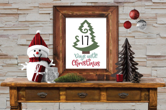 Download Free Days Until Christmas Countdown Svg Cut File Graphic By for Cricut Explore, Silhouette and other cutting machines.