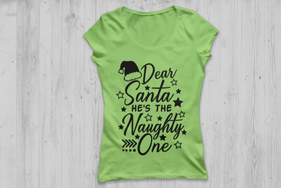 Download Free Dear Santa He S The Naughty One Svg Graphic By Cosmosfineart for Cricut Explore, Silhouette and other cutting machines.