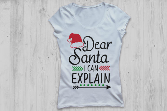 Download Free Dear Santa I Can Explain Svg Graphic By Cosmosfineart Creative for Cricut Explore, Silhouette and other cutting machines.