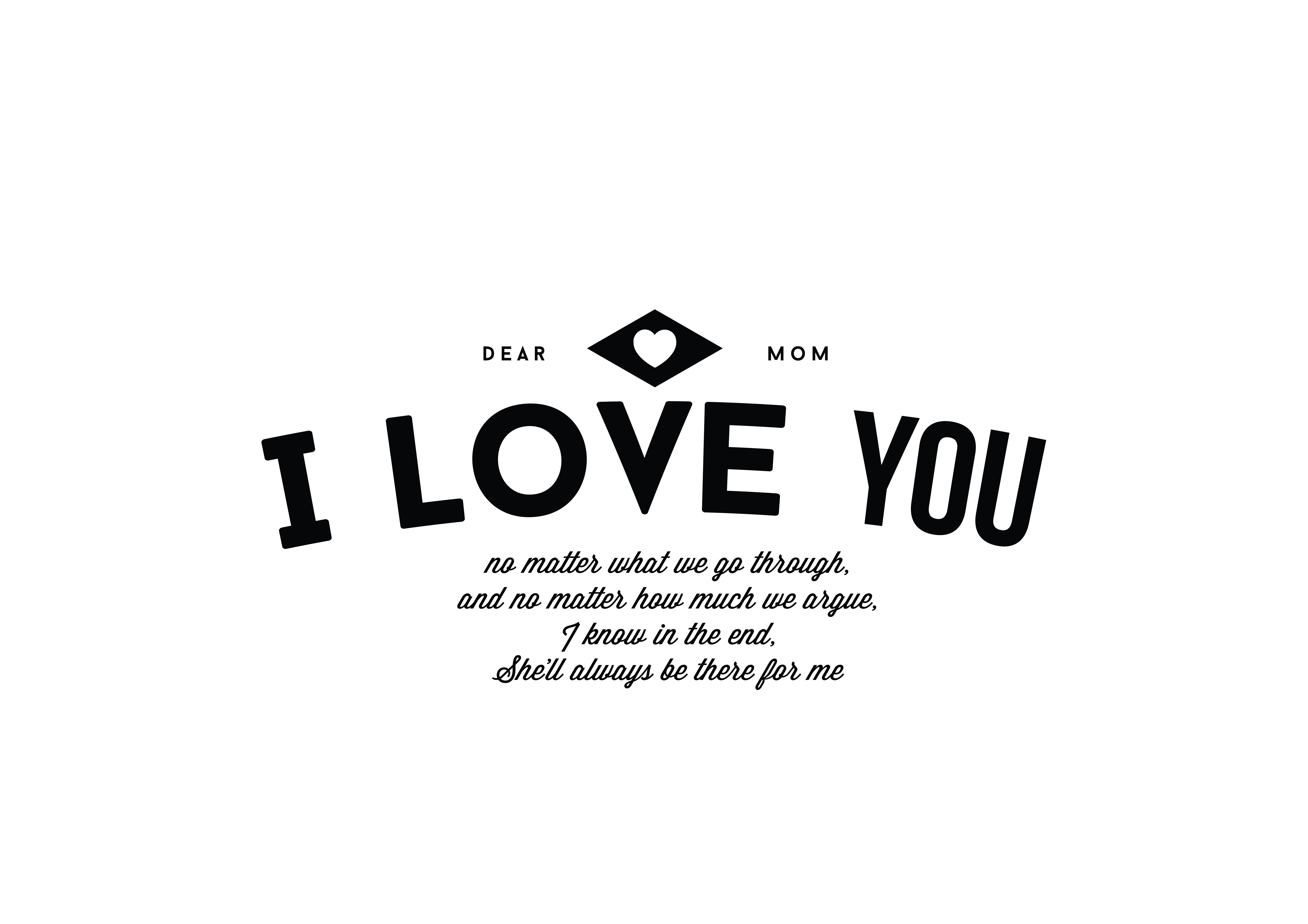 Download Free Dear Mom I Love You Graphic By Baraeiji Creative Fabrica for Cricut Explore, Silhouette and other cutting machines.