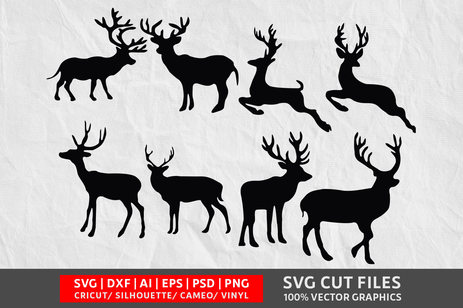 Download Free Deer Graphic By Design Palace Creative Fabrica for Cricut Explore, Silhouette and other cutting machines.