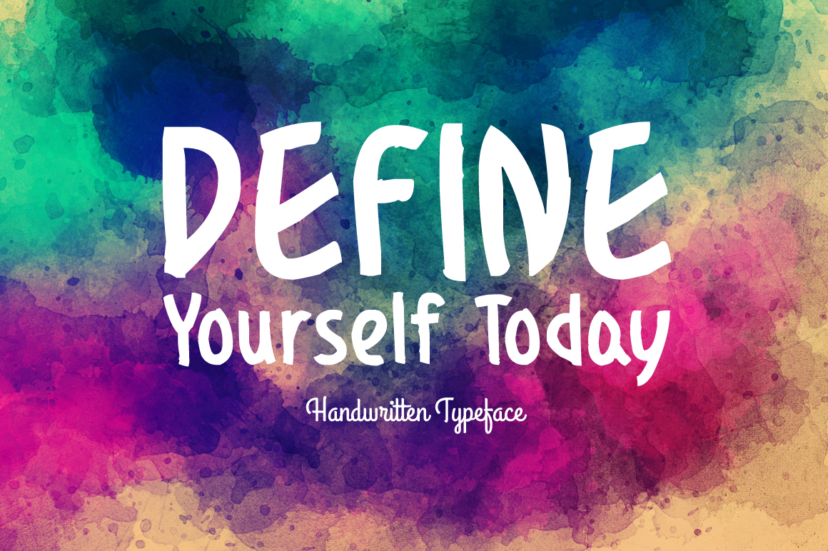 Download Free Define Yourself Today Font By Spanking Fonts Creative Fabrica for Cricut Explore, Silhouette and other cutting machines.
