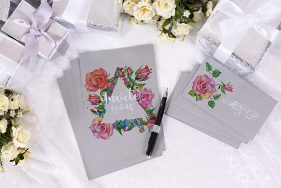 Download Free Delicate Red Watercolor Roses Graphic By Mystocks Creative Fabrica for Cricut Explore, Silhouette and other cutting machines.