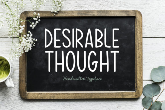Download Free Desirable Thought Font By Spanking Fonts Creative Fabrica for Cricut Explore, Silhouette and other cutting machines.