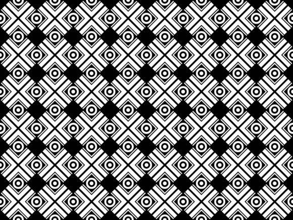 Diagonal Square and Round Pattern Graphic Patterns By asesidea