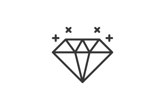 Download Free Diamond Icon Grafico Por Rudezstudio Creative Fabrica SVG Cut Files