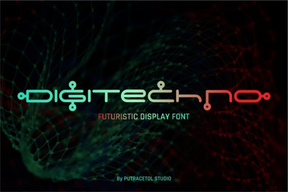 Print on Demand: Digitechno Display Font By putracetol - Image 1