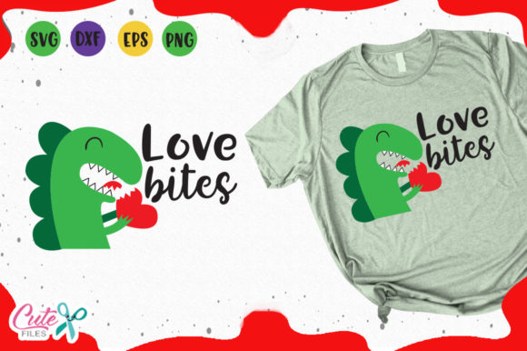 Dino Love Bites Svg Graphic Illustrations By Cute files